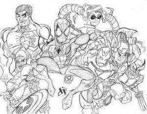 Desenho Para Colorir Vingadores 3 Atividades Educacao Infantil