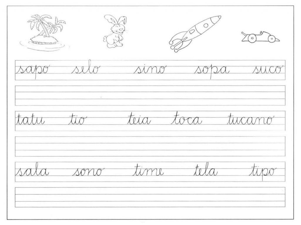 50 Cadernos De Caligrafia Para Imprimir Com Letras Pontilhadas